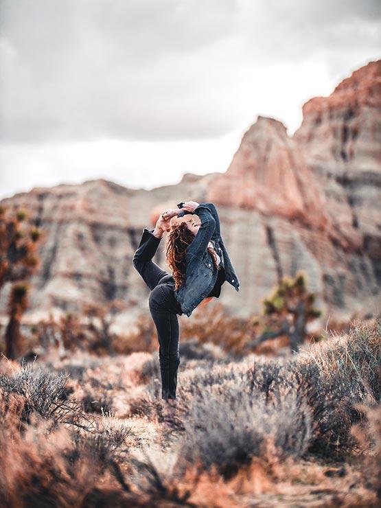 Yoga in Sedona Mountains