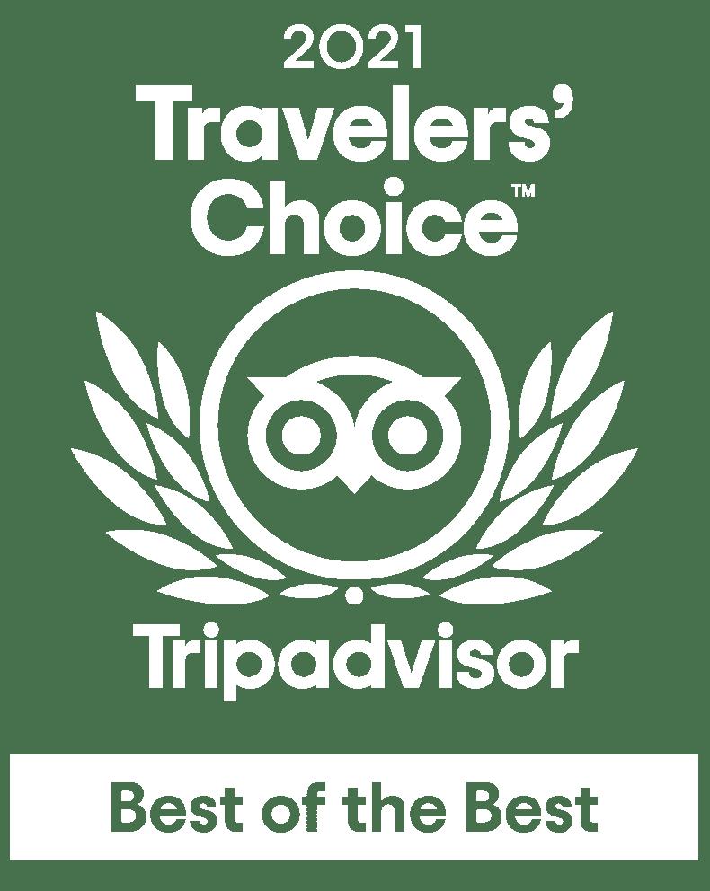 TripAdvistor Best of 2021 Badge